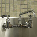 "Advance Tabco K-105RE Splash Mount Faucet - 14"" Spout, 8"" On-Center"
