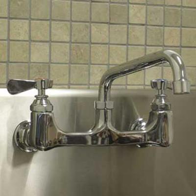 """Advance Tabco K-105RE Splash Mount Faucet - 14"""" Spout, 8"""" On-Center"""