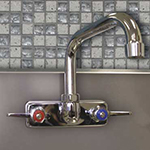 "Advance Tabco K-123RE 6"" Extended Swing Spout Faucet"