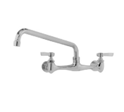 "Advance Tabco K-11 Splash Mount Faucet - 14"" Spout, 8"" Center"