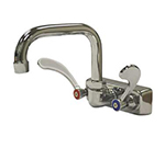 "Advance Tabco K-206 Splash Mount Faucet - Wrist Handles, 4"" On-Center"