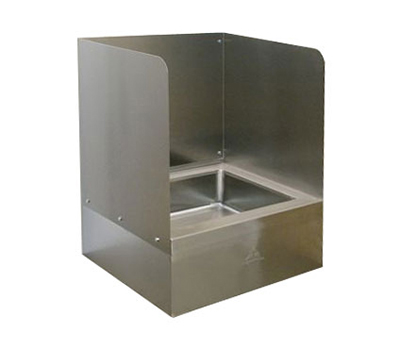 "Advance Tabco K-298 Three Sided Splash for 9OP20/40 Mop Sink, Extends 16"" Above The Sink"