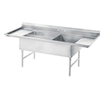 Advance Tabco 18-K5-56 Meat, Platter Sink - 3-Bowls, 2-Drainboards, 16-ga 304-Stainless