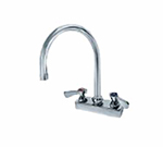 "Advance Tabco K-55 Gooseneck Faucet, Deck Mount, Large 8-1/2"" Spout, 4"" Center"