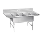 "Advance Tabco K7-3-2430-24RL Fabricated Sink - (3) 30x24x14"" Bowl, 24"" L-R Drainboards, 16-ga 300-Stainless"