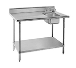 "Advance Tabco KMS-11B-306R 72"" Work Table - Right Sink, 5"" Backsplash, 30"" W, 16-ga 304-Stainless"
