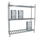 "Advance Tabco KR-42 42"" Aluminum Keg Rack - 2-Shelves, Holds 4-Kegs"