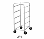 Advance Tabco LR6 Lug Cart, Full Height, Open Sides, Welded Aluminum, Holds 6 Lug