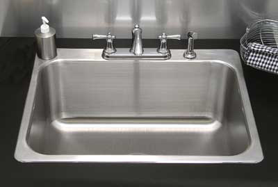 "Advance Tabco LS282014RE Laundry Room Drop-In Sink - (1) 28x20x14"" Bowl, 16-ga Stainless"