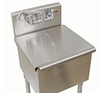 "Advance Tabco LSC-242RE Stainless Cover for 4-1-24, 6-41-24 Budget Sink - 24x24"" Bowl"