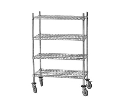 Advance Tabco MC-2448R Chrome Wire Shelving Unit w/ (4) Levels, 48x24x64