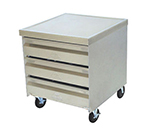 "Advance Tabco MDC2015 Mobile Cabinet - (3) 20x15"" Drawers, Stainless Top"