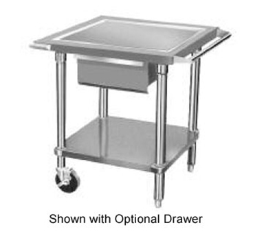 "Advance Tabco AG-MP-30 Mobile Equipment Stand - Counter Top Edge, Push Handle, 24x30x28"", Stainless"