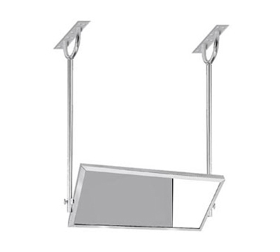 Advance Tabco MI-48 Tilting Demo Mirror, Ceiling Mount, 24x48, 4 Ft Long, Stainless Steel