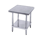 "Advance Tabco MT-GL-302 24"" Mixer Table w/ Galvanized Undershelf Base & Marine Edge, 30""D"