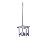 "Advance Tabco MX-GL-302 24"" Mixer Table w/ Galvanized Undershelf Base & Utensil Rack, 30""D"