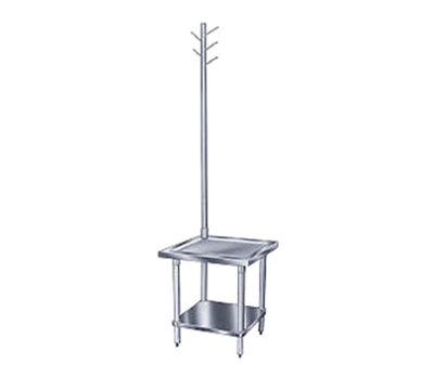 "Advance Tabco MX-SS-302 24"" Mixer Table w/ All Stainless Undershelf Base & Utensil Rack, 30""D"