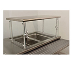 "Advance Tabco NSGC-15-96 Cafeteria Style Food Shield - 15x96x18"", Stainless Top Shelf"