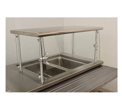 "Advance Tabco NSGC-18-144 Cafeteria Style Food Shield - 18x144x18"", Stainless Top Shelf"