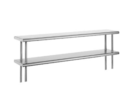 "Advance Tabco ODS-12-108R 108"" Old Style Table Mount Shelf - 2-Deck, Rear Turn Up, 12"" W, 18-ga 430-Stainless"