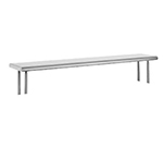 "Advance Tabco OTS-10-120 120"" Old Style Table Mount Shelf - 1-Deck, 10"" W, 18-ga 430-Stainless"