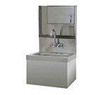 "Advance Tabco 7-PS-727 Wall Hand Sink - 14x10x5"" Bowl, Splash Mount Gooseneck, Class 1, Security Unit"
