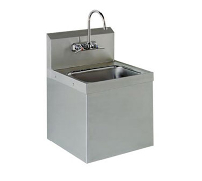 "Advance Tabco 7-PS-747 Wall Hand Sink - 14x10x5"" Bowl, Splash Mount Gooseneck, Class 2, Security Unit"