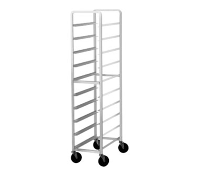 "Advance Tabco PL6-12 Mobile Platter Rack - Holds (6) 12.5"" Platters, Intermediate Height, Aluminum"