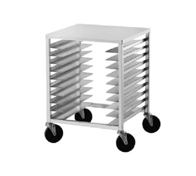 "Advance Tabco PR10-3ST Mobile Pan Rack - Holds (10) 18x26"" Pans, Intermediate Height, Stainless Top"