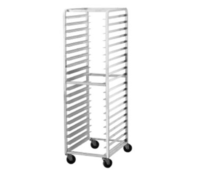 "Advance Tabco PR106W Mobile Pan Rack - Holds (10) 18x26"" Pans, Full Height, Front Load"