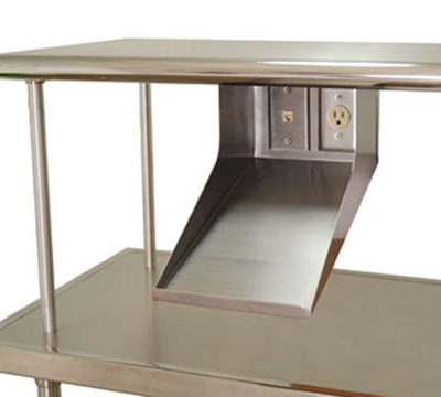 "Advance Tabco PRT-1 8"" Printer Shelf - Data Port, Electric Outlet"
