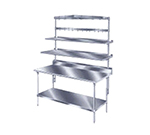 "Advance Tabco PT-18S-144 144"" Table Mount Shelf - 1-Deck, Splash-Mount, 18"" W, Stainless"