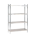 Advance Tabco SHC-2460 Stainless Wire Shelving Unit w/ (4) Levels, 60x24x74