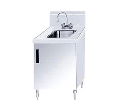 "Advance Tabco SHK-180 Sink Cabinet - (1) 10x14x10 Bowl, Faucet, 5"" Backsplash, 18x30"" OA"