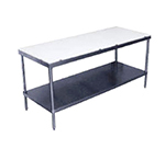 "Advance Tabco SPT-304 48"" Poly Top Work Table w/  5/8"" Top, Stainless Base, 30""D"
