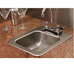 "Advance Tabco SS-1-1919-210RE Drop-In Sink - (1) 16x14x10"" Bowl, 2-Hole, 18-ga 304-Stainless"