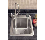 "Advance Tabco SS-1-1715-10RE Residential Drop-In Sink - (1) 14x10x10"" Bowl, 18-ga 304-Stainless"