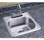 "Advance Tabco SS115156RE Residential Drop-In Sink - (1) 12.25x10.25x6"" Bowl, 18-ga 304-Stainless"