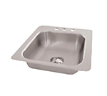 "Advance Tabco SS-1-1919-7 Drop-In Sink - (1) 16x14x7.5"" Bowl, 2-Hole, 18-ga 304-Stainless"