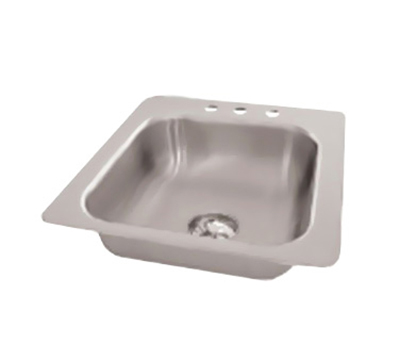 "Advance Tabco SS-1-1919-12 Drop-In Sink - (1) 16x14x12"" Bowl, 18-ga 304-Stainless"