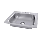 "Advance Tabco SS-1-2321-12 Drop-In Sink - (1) 20x16x12"" Bowl, 3-Hole, 18-ga 304-Stainless"