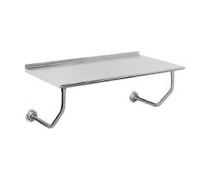 "Advance Tabco FSS-W-246 72"" Wall Mounted Work Table - 24""D, Rolled Rim"