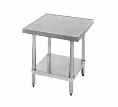 "Advance Tabco SAG-MT-242 Equipment Stand - Adjustable Undershelf, 24x24x24"", Stainless"