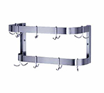 "Advance Tabco SW-36 36"" Wall Mount Pot Rack - Double Bar, 12-Double Hooks"