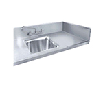 Advance Tabco TA-11F-2 Double Sink Welded Into Table Top, 10x14x10
