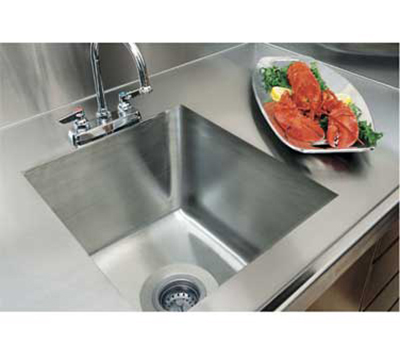 Advance Tabco TA11B2RE Double Integral Sink for Stainless Countertops, 20x16x12