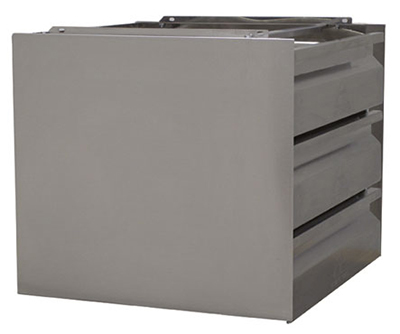 Advance Tabco TA-SHD-3 Triple Tier Side Closure Panel for 20x20 SHD Drawer