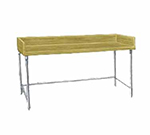 "Advance Tabco TBG-368 96"" Bakers Top Work Table - 36""W, Wood Top, Galvanized Legs"