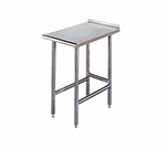 Advance Tabco TFMS-152 Equipment Filler Table - Open Base, Rear Turn Up, 15x24