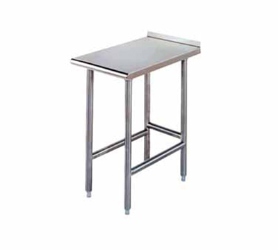 Advance Tabco TFMS123 Equipment Filler Table - Open Base, Rear Turn Up, 12x36